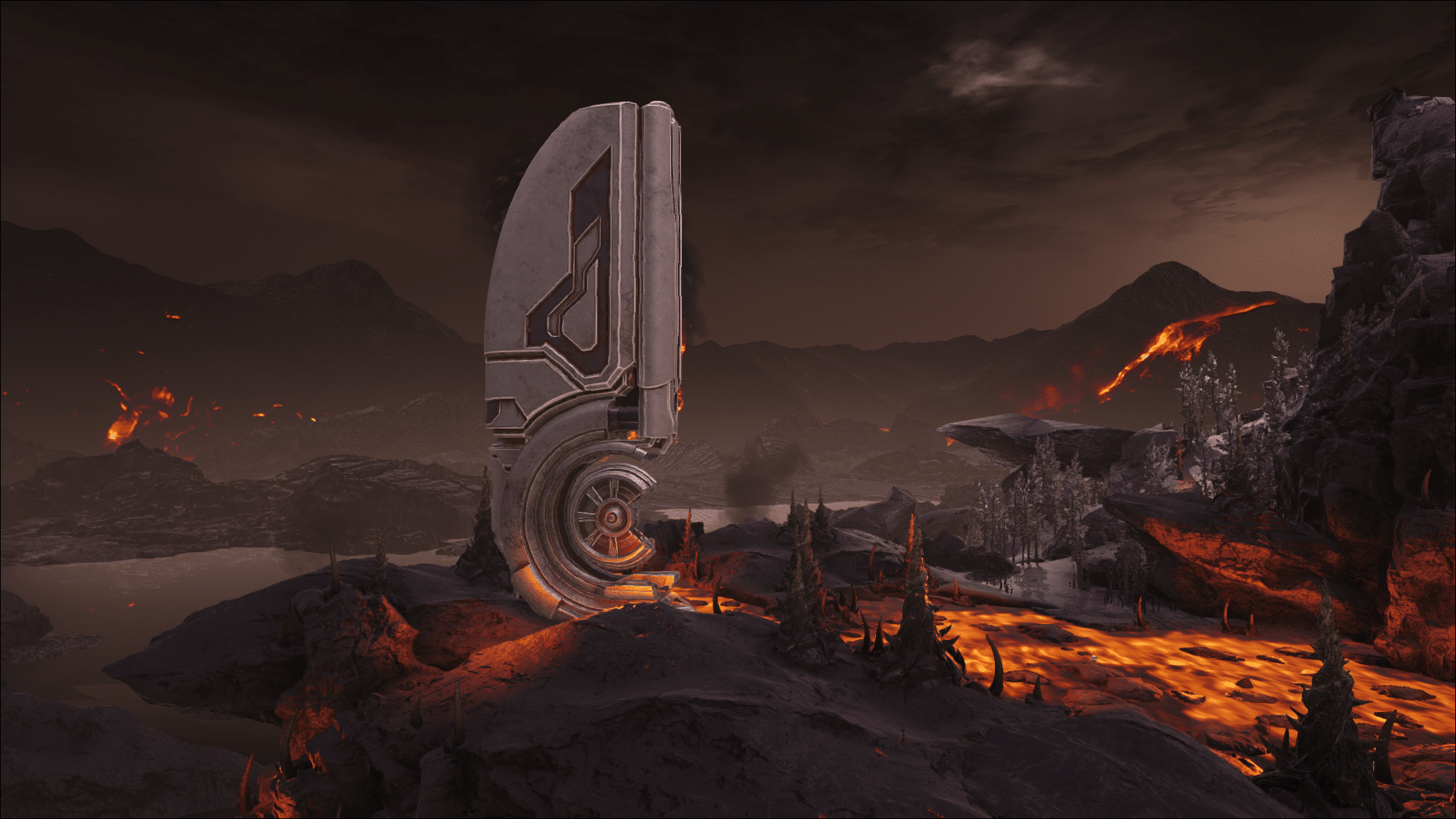 Deadly yet beautiful, the Volcano Biome on Ark: Genesis