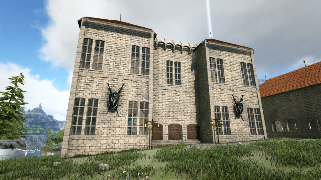 The trophy hall from the outside on Ark: Valguero