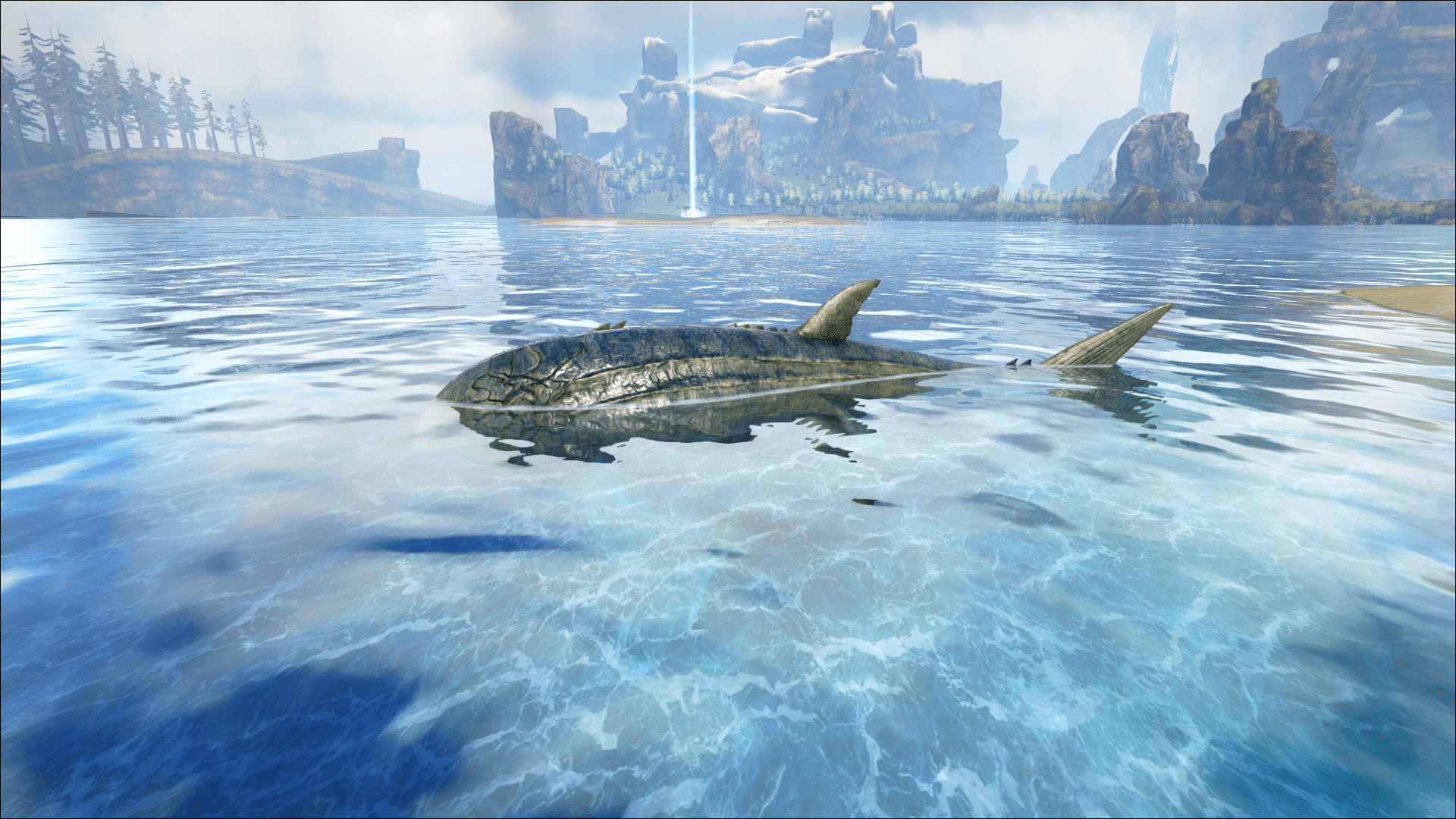A rare Leedsichthys sighted on Ark: The Center