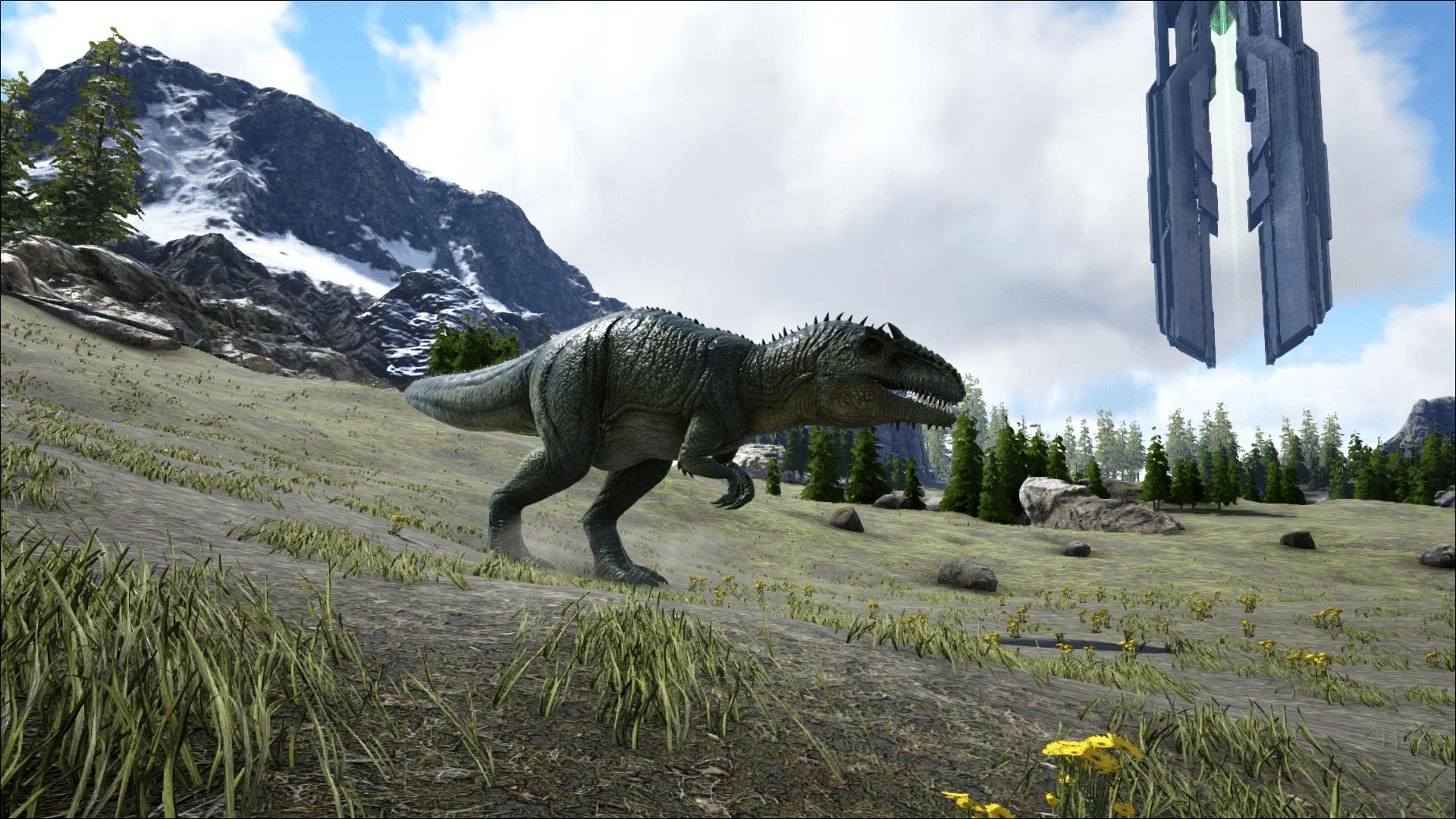 The deadly Giganotosaurus on Ark: Ragnarok