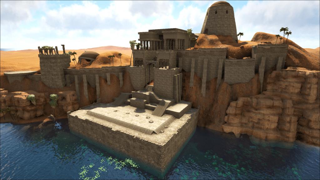 An ancient temple in the desert on Ark: Ragnarok