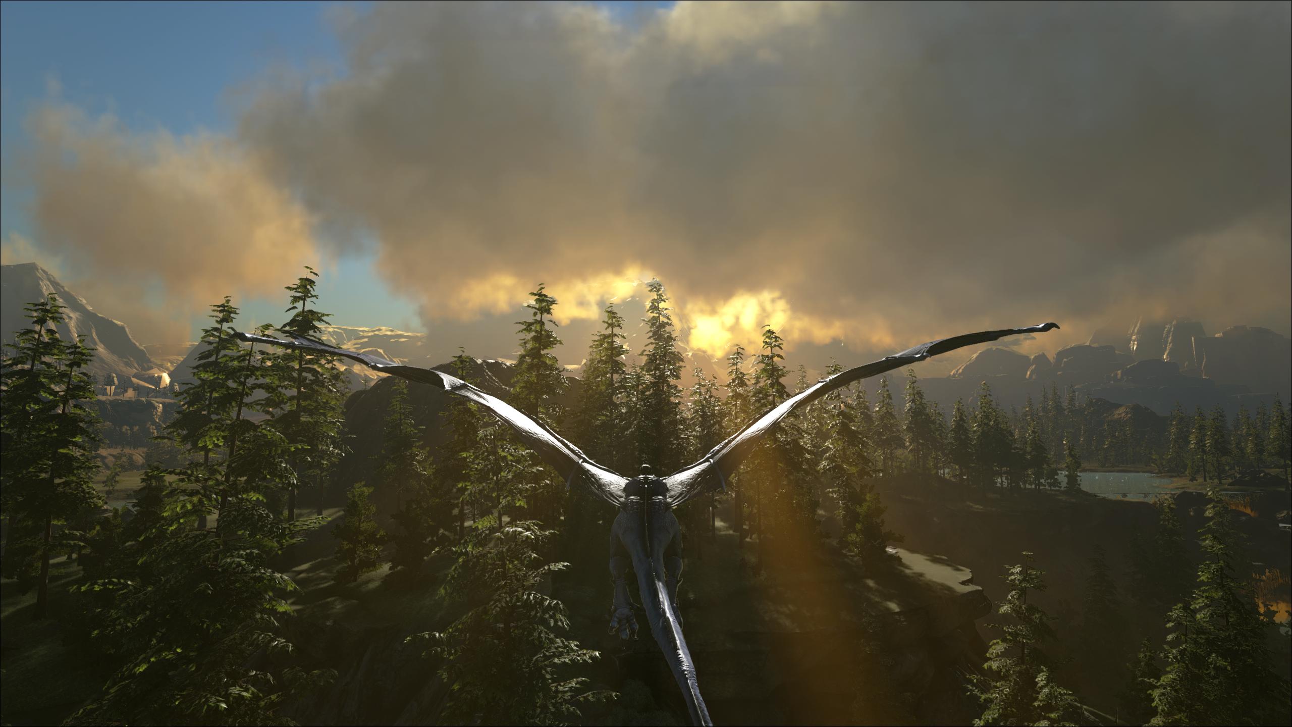 A Lightning Wyvern in flight