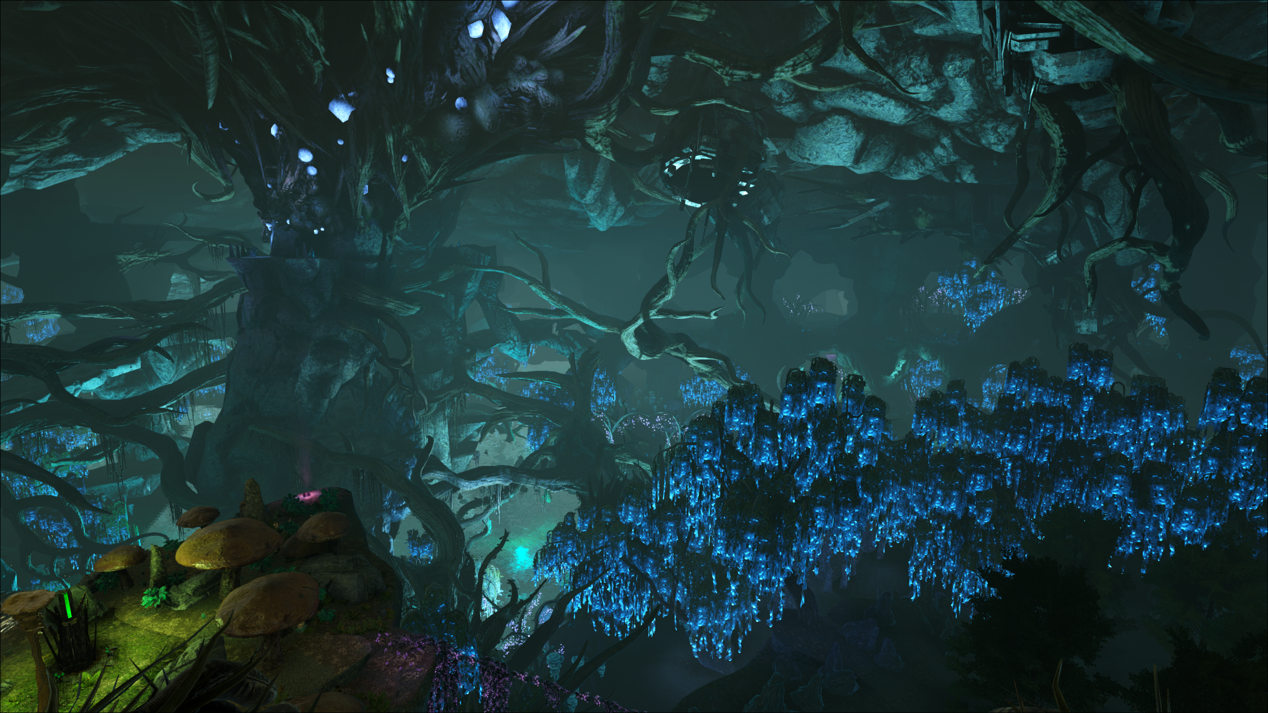 Looking down from the Green Zone on Ark: Aberration