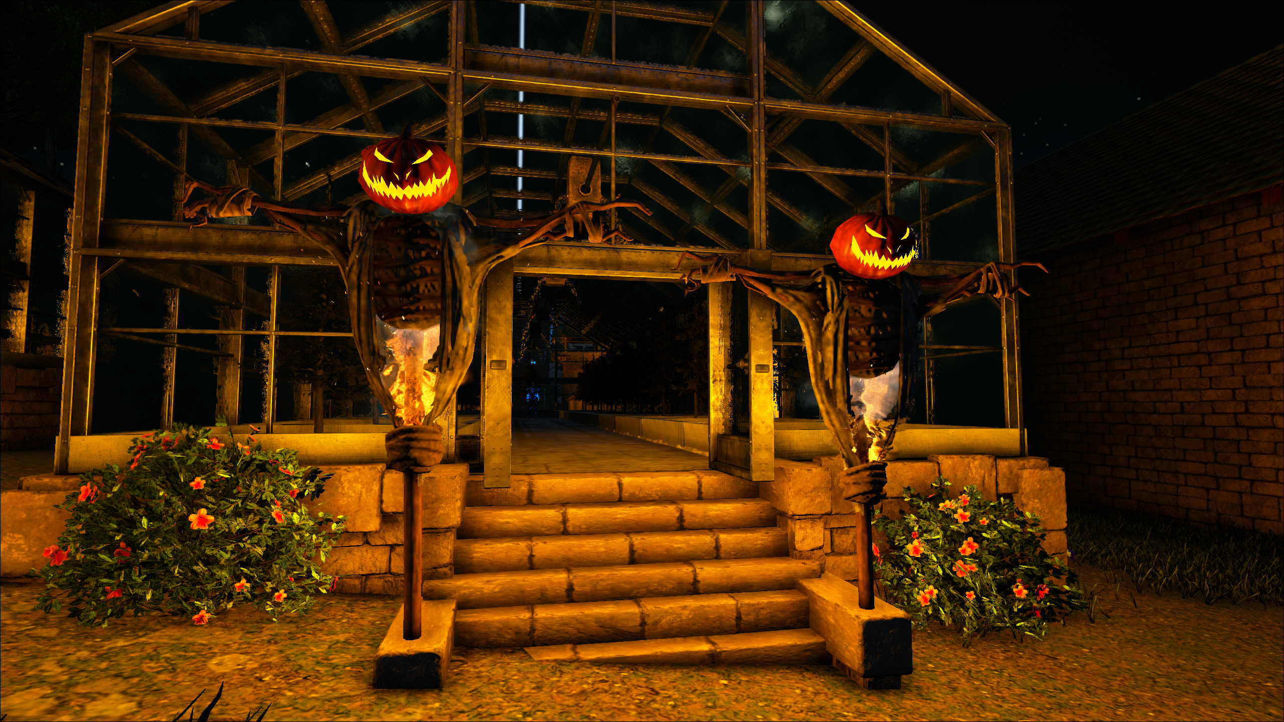The Halloween decorations are up on Ark: Valguero