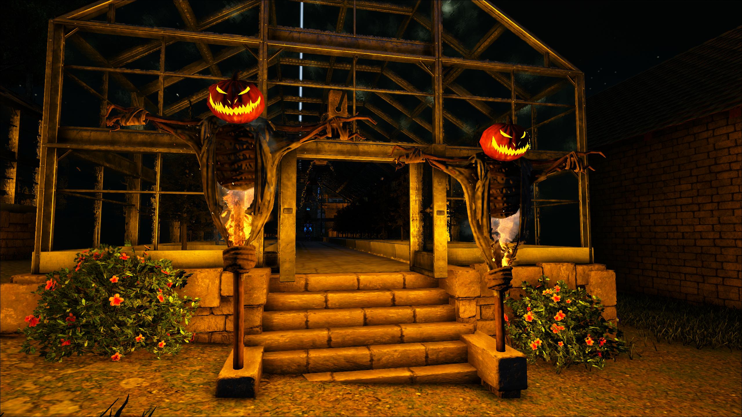 The Halloween decorations are up on Ark: Valguero