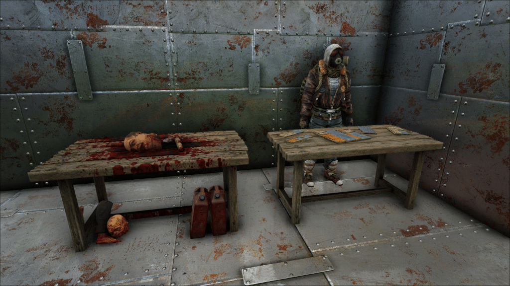 Dead Survival crafting tables in the WNG base