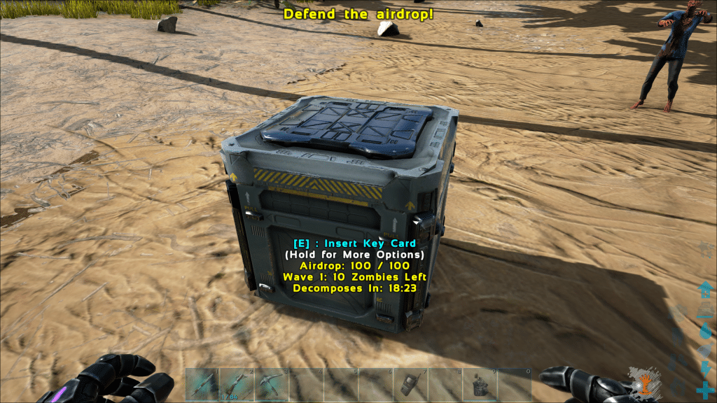 Insert a Key Card to open the Supply Crate
