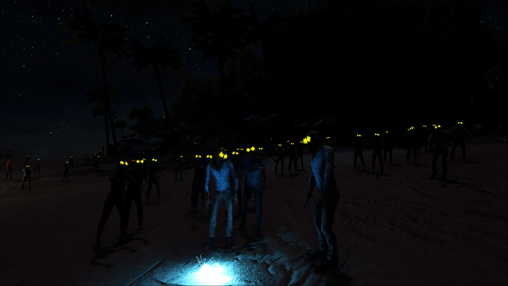 A dead survival zombie horde on the Ark: The Island