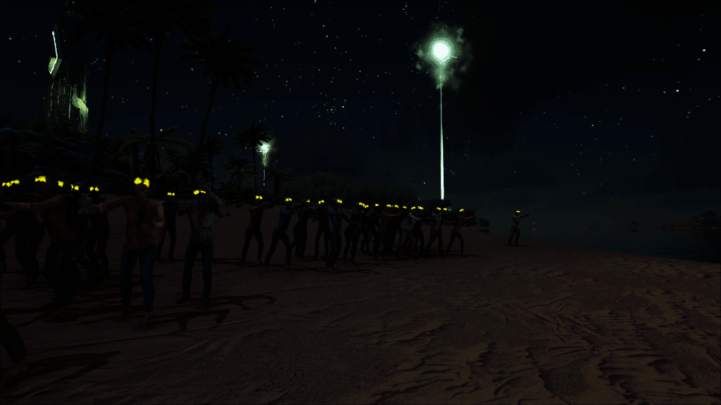 The zombie horde starts to move on