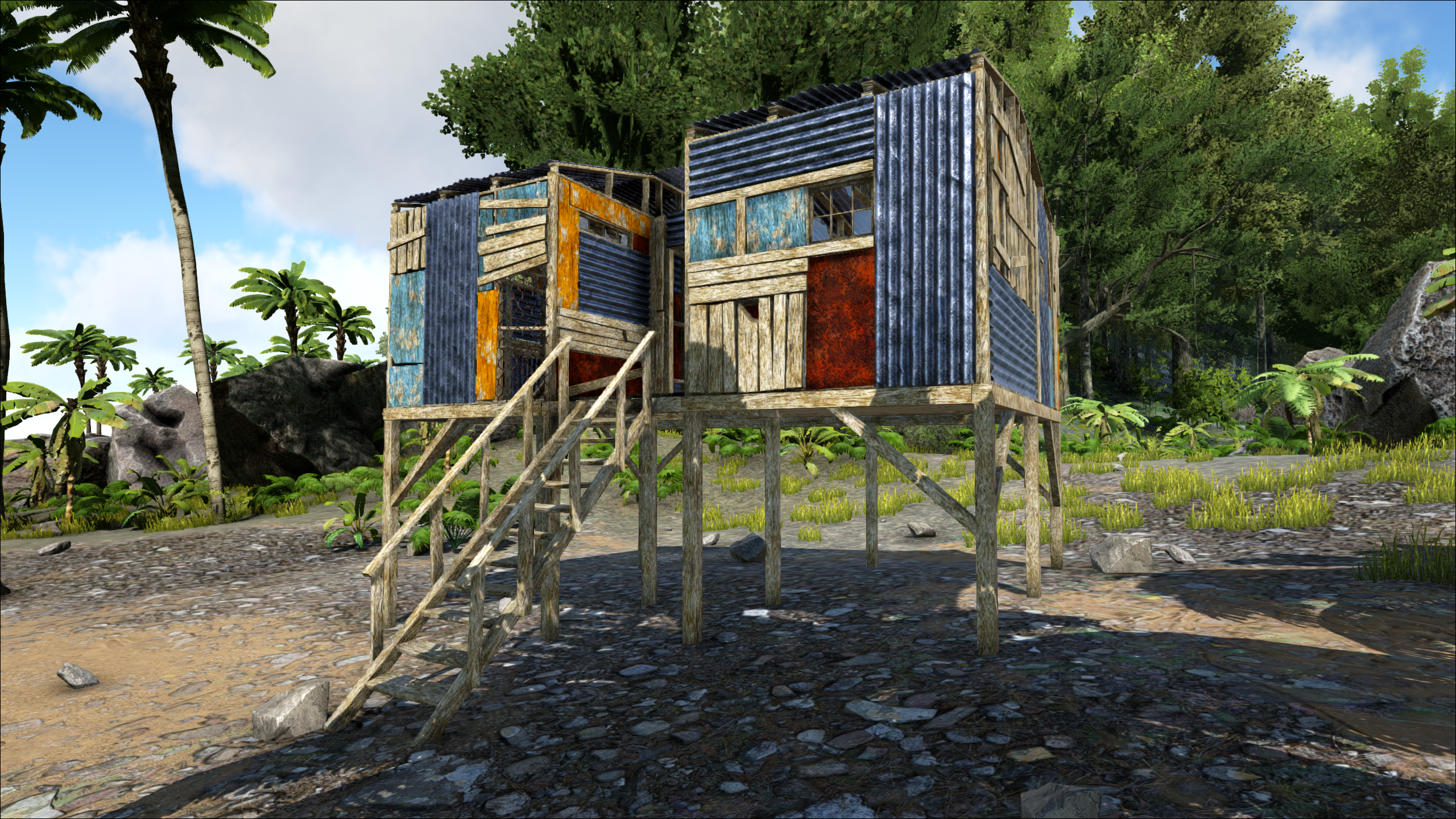 A shanty prefab on the Island Ark