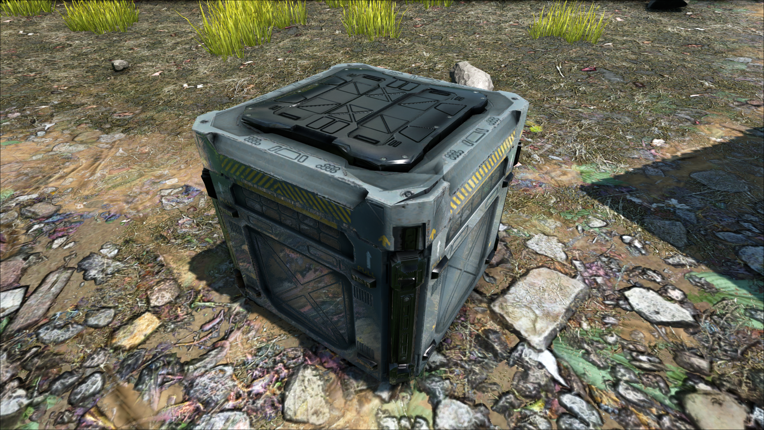 A Supply Crate, ready to open