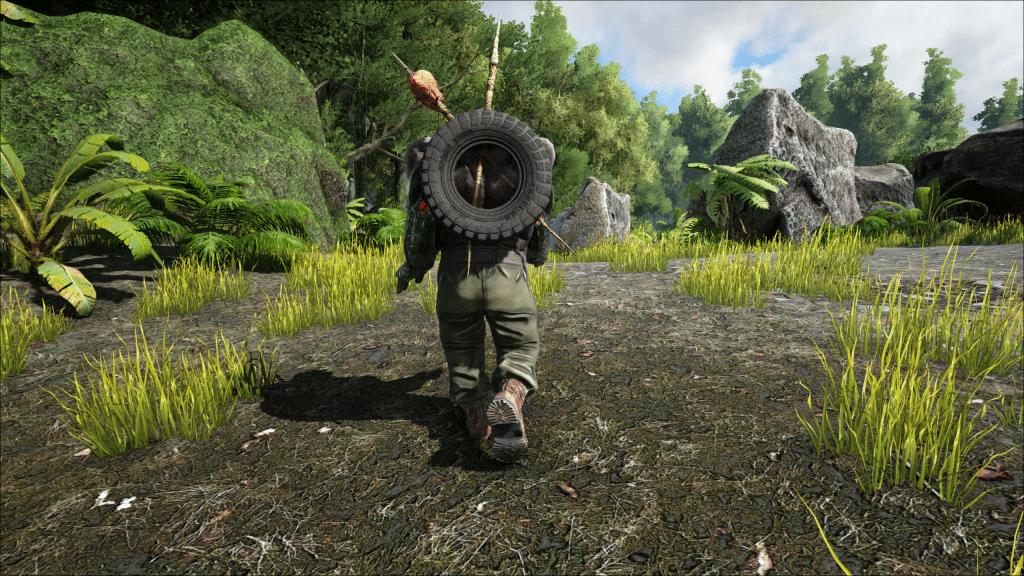 A Juggernaut walks off into the forest