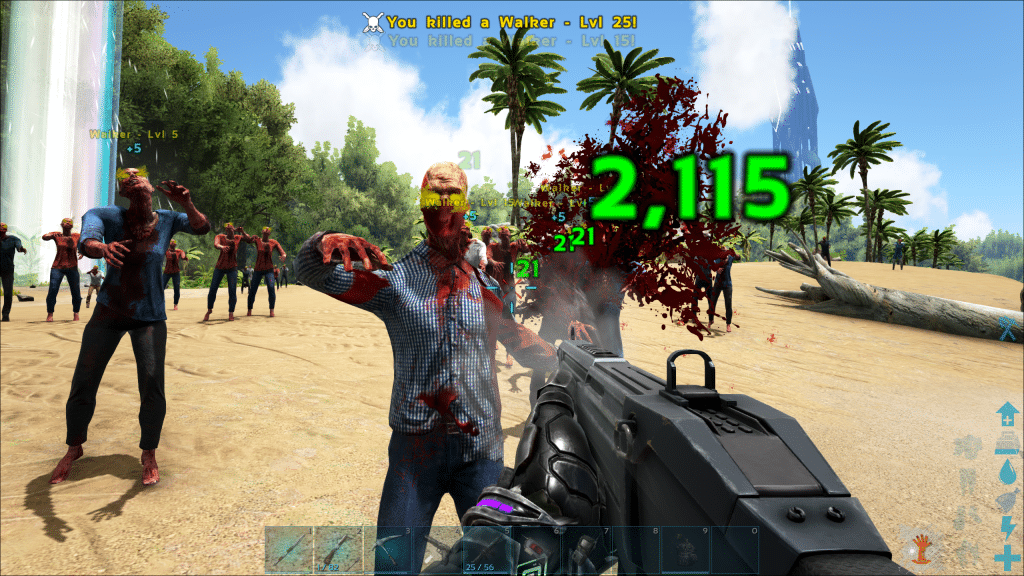 Taking on a zombie horde with an Assult Rifle