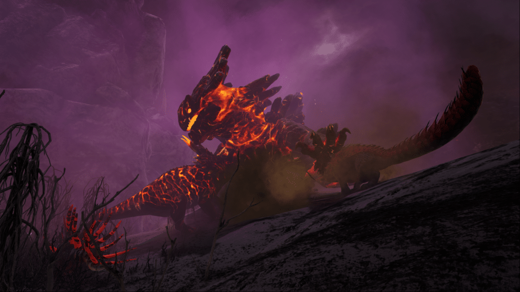 Magmasaur vs Triceratops on Ark: Genesis