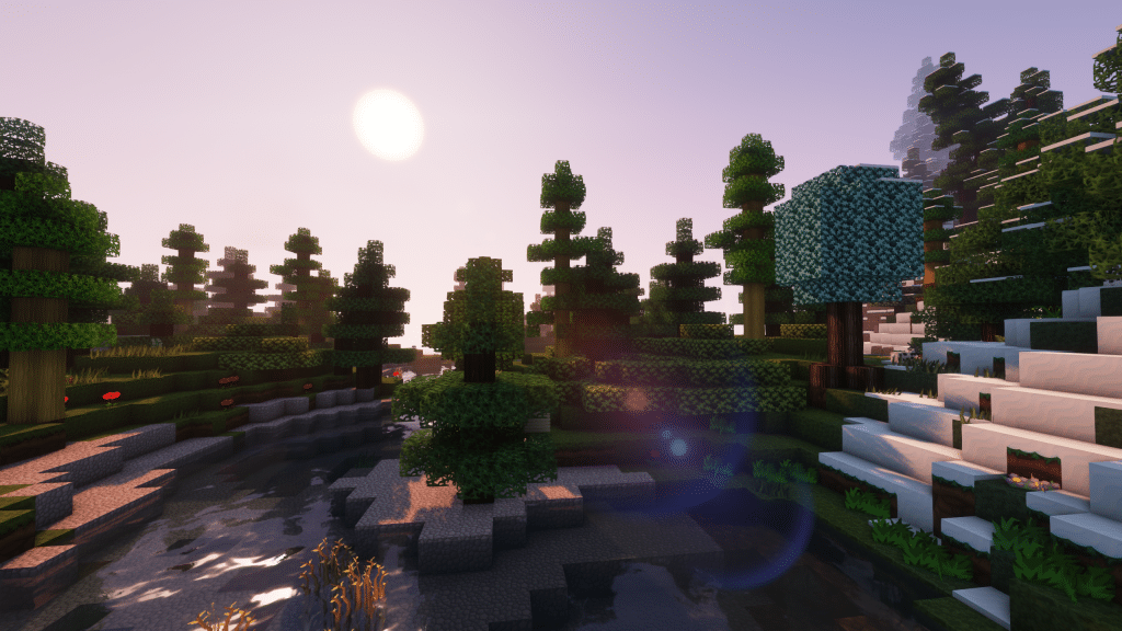 Minecraft Enigmatica 2: Lens Flare And Reflections