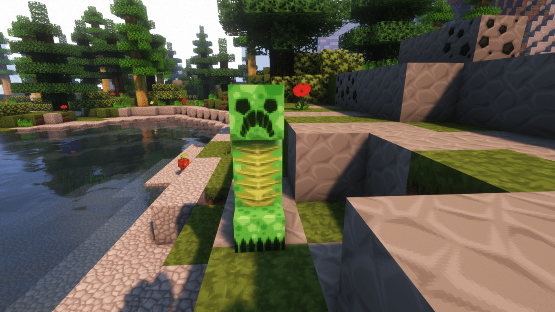 A Creeper in Minecraft