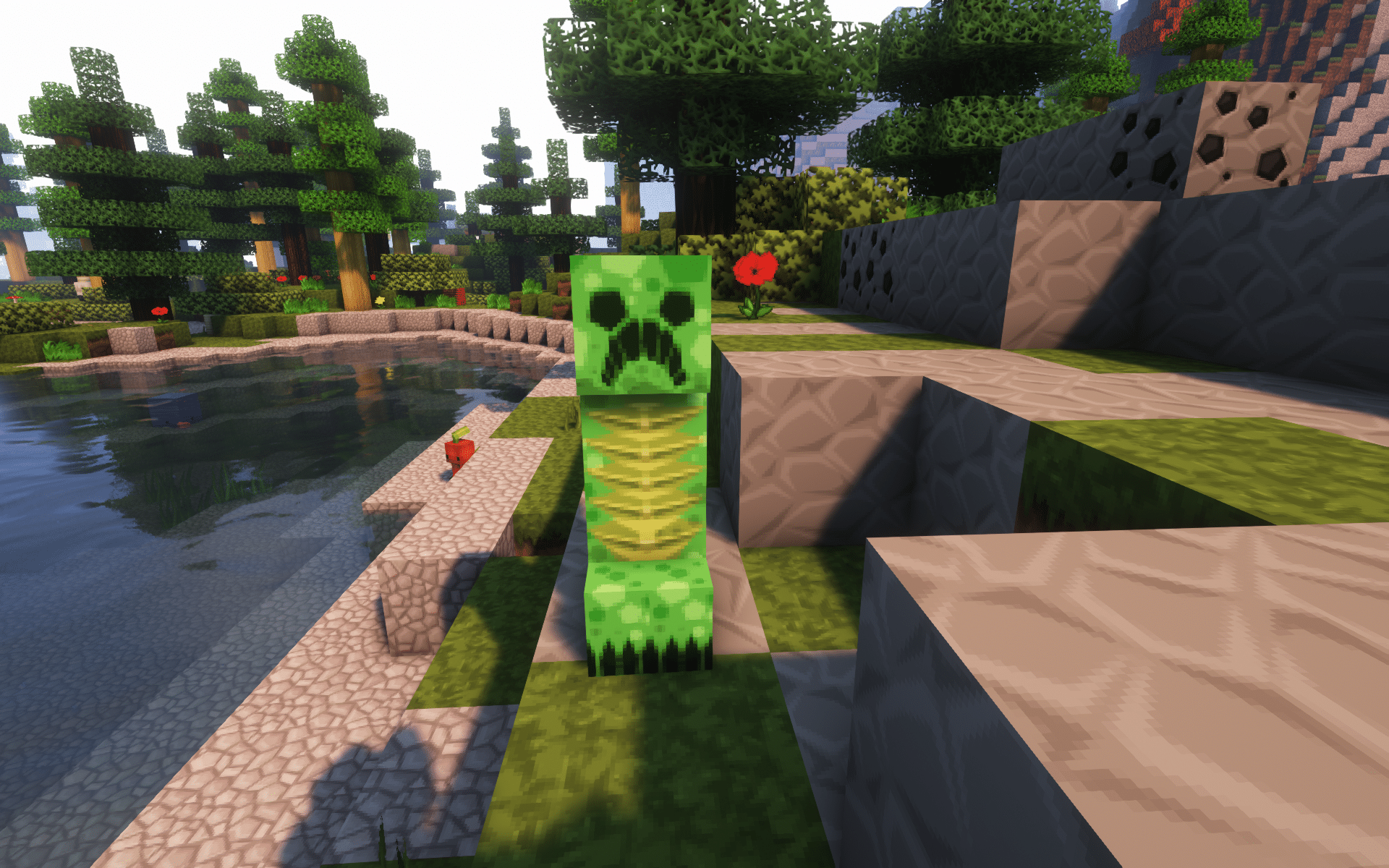 A Creeper in Minecraft
