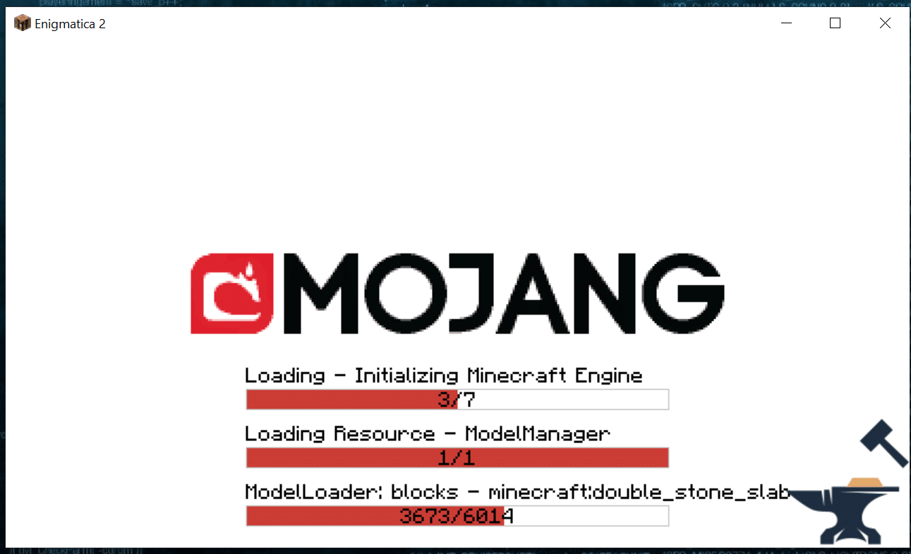Minecraft Enigmatica 2: Minecraft Loading